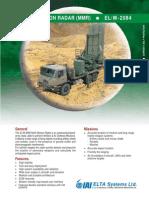 Multi Mission Radar (MMR) - ELM-2084