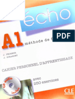 Echo A1 Cahier Personnel d'Apprentissage