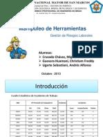 Manipuleo de Herramientas - Gestión de Riesgos Laborales