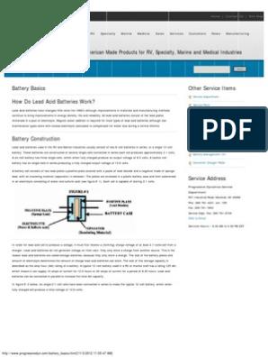 Battery Basics pdf | Battery (Electricity) | Battery Charger