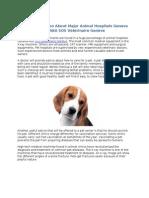 Vital Information About Major Animal Hospitals Geneva AKA SOS Vétérinaire Genève.doc