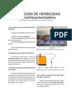 INTA - Aplicacion de Herbicidas Con Mochila Pulverizadora