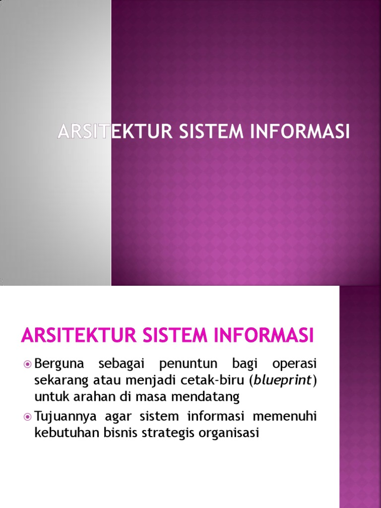 Arsitektur sistem informasippt malvernweather Choice Image