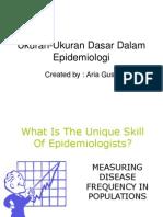 Ukuran Ukuran Dasar Dalam Epidemiologi