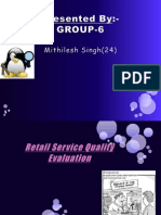 Retail Service Quality Evaluation