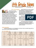 5th grade newsletter1