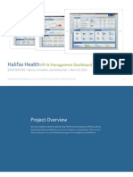 Halifax Health | Management Dashboard
