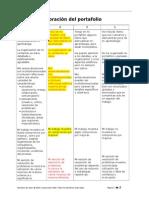 matriz valoracion portafolio