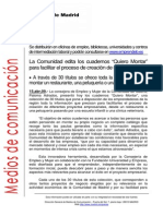 090415 Cuadernos Quiero Montar Comunidad de Madrid