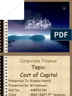 Cost of Capital by M.hashaam