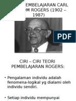 Teori Pembelajaran Carl Ransom Rogers (1902 –