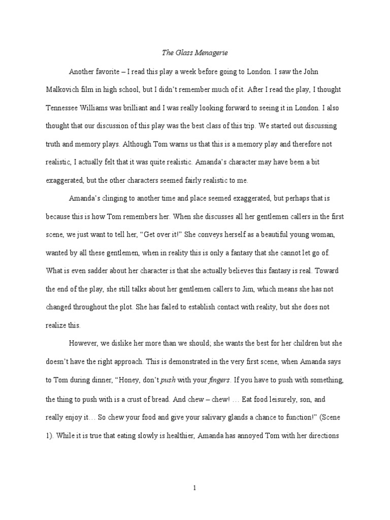 the glass menagerie essay an essay for the glass menageriepdf erik the phantom of the