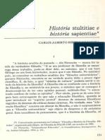 Moura, Carlos Alberto de - História stultitiae e história sapientiae