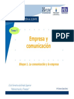 Tema 1. Empresa y comunicación