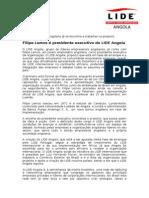 Filipe Lemos é presidente executivo do LIDE Angola.doc