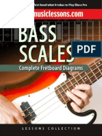 Bass Scales - Complete Fretboard Diagram