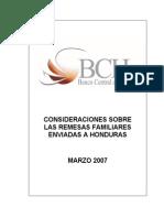 BCH Consideraciones Remesas Familiares Marzo 2007