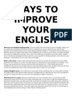 WAYS TO IMPROVE YOUR ENGLISH