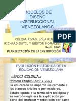 Modelos Diseno Instruccional Venezolanos
