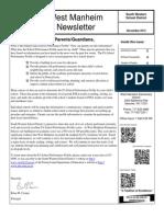 West Manheim November 2013 Newsletter