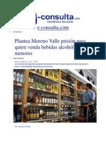 31-10-2013 e-consulta.com  - Plantea Moreno Valle prisión para quien venda bebidas alcohólicas a menores