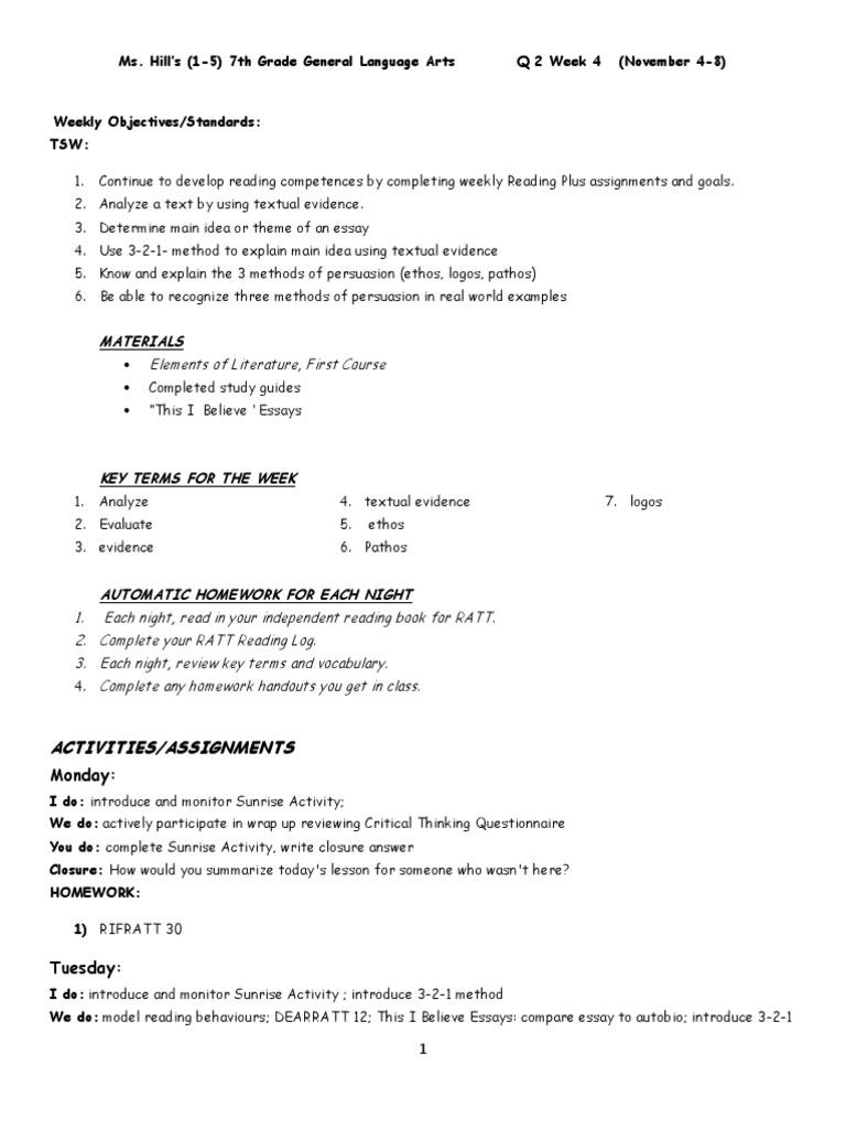 goal 2 review homework