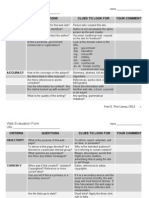 Web Evaluation Form