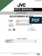 Service Manual JVC kd-s743r / kd-s741r