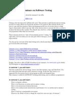 Seminars on Software Testing