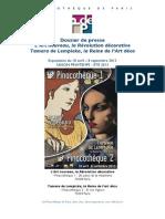 Dossier de Presse Art Nouveau Et Tamara de LempickaBD