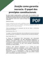 A Constituição como garantia da democracia