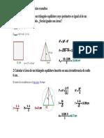 Geometría plana. Ejercicios