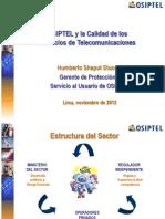 Osiptel y La Calidad de Los Servicios de Telecomunicaciones (1)