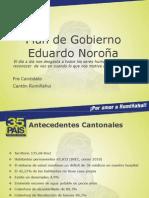 Plan de Gobierno Cantón Rumiñahui Eduardo Noroña