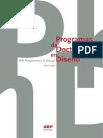 Libro - Programas de Doctorado en Diseño