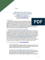 Digital Video Preservation & Access