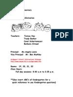 Kindergarten Handbook Revised 09_10
