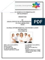 TRAINING MODULE ON PERSONALITY