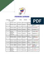Calendario Round Robin 2011-2012