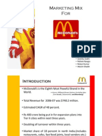 Mcdonalds' Marketing Mix