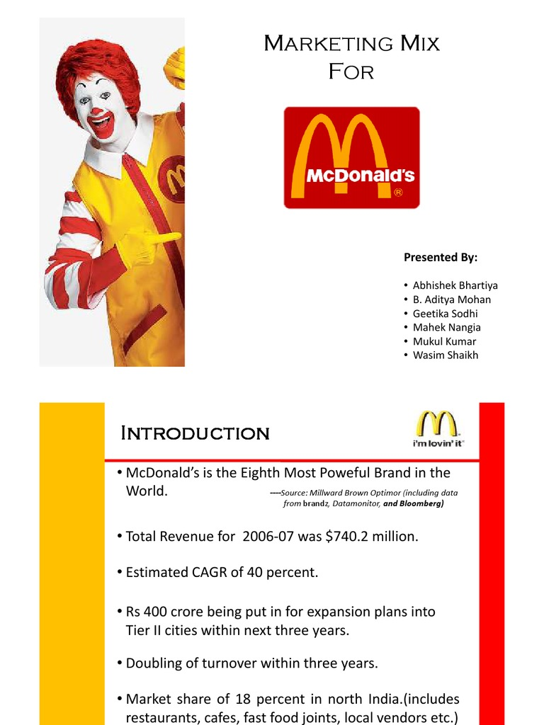 mcdonald market segmentation Marketing segmentation, targeting and positioning of burger king essay market segmentation markets consist of buyers compare with their mainly competitor mcdonald are targeting kids and families, they had a different targeting audience.