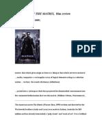 Matrix Film Review.wps