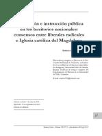 Adriana Santos - Civilización e instrucción pública en los territorios nacionales. Consensos entre liberales radicales e iglesia católica del Magdalena (artículo)