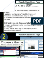 Moodle Home Page Design