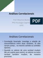 Análises Correlacionais