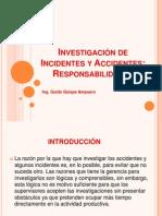 Presentación N° 3 Investigación de Incidentes y Accidentes Responsabilidades