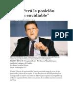 En el Perú la posición fiscal es envidiable