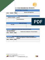 Formato Ficha Resumen Del Proyecto