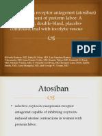 Atosiban Evidence Based Medicine