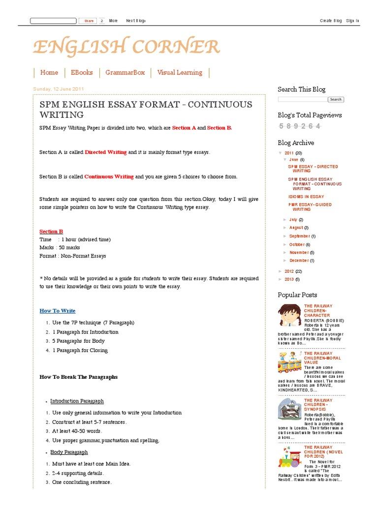 english essays spm 2012